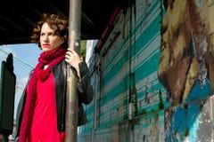 Miastowa scena z zmysłową kobietą obraz royalty free