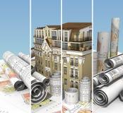 Miastowa sztandar budowa Obraz Stock