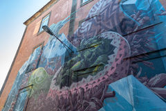 Miastowa sztuka Na Porto ulicie Obraz Stock