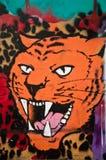 Miastowa sztuka - tygrys Obrazy Stock