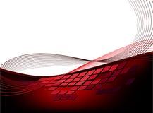 miastowa tło czerwień ilustracji