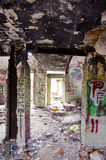 miastowe domowe stare ruiny Zdjęcia Stock