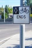 Miastowe roweru pasa ruchu końcówki Obraz Stock