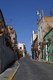 Miastowe Scenics ulicy - Kolorowe ulicy od Małego miasteczka, Meksyk Fotografia Stock