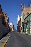 Miastowe Scenics ulicy - Kolorowe ulicy od Małego miasteczka, Meksyk Zdjęcie Stock