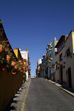 Miastowe Scenics ulicy - Kolorowe ulicy od Małego miasteczka, Meksyk Zdjęcia Royalty Free