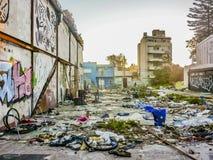 Miastowego gnicia tła scena obraz royalty free