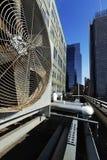 Miastowego HVAC powietrza Contidioner Plenerowa jednostka Manhattan Nowy Jork Zdjęcia Royalty Free