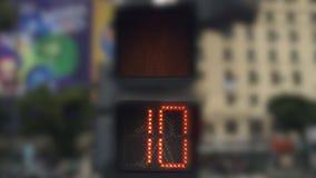 Miastowego pieszy światła zupełny sygnał w Buenos Aires, Argentyna zdjęcie wideo