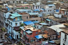 Miastowi budynki w starej części Guangzhou metropole Guandong prowincja, Chiny Obraz Royalty Free