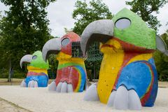 Miastowi landscapers budowali dziecka ` s gry obraz royalty free