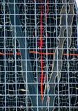 Miastowi odbicia w budynkach Abstrakcjonistyczni wizerunki deformować mirrorsabstra obrazy stock