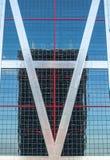Miastowi odbicia w budynkach Abstrakcjonistyczni wizerunki deformowa? mirrorsabstra obrazy stock