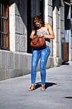 Miastowy życie w sposobie Santiago 57 - młoda dama Zdjęcia Stock