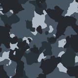 Miastowy błękitny bezszwowy camo wzór ilustracji