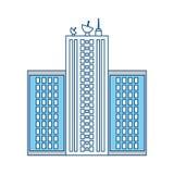 Miastowy basztowy budynek Zdjęcia Stock