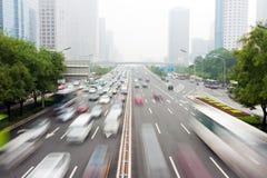 miastowy Beijing ruch drogowy s Zdjęcie Royalty Free
