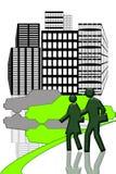 miastowy centrum miasto royalty ilustracja