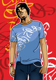 miastowy chłopiec portret ilustracji