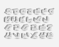 Miastowy Cyfrowych graffiti abecadło Ustalony -3D royalty ilustracja