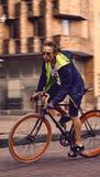 Miastowy cyklista obraz stock