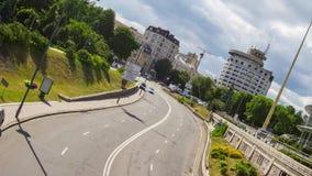Miastowy dnia ruch drogowy zdjęcie wideo