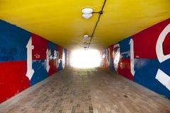 Miastowy graffiti tunel obrazy royalty free