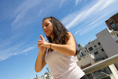 Miastowy joga fotografia royalty free