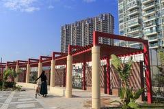 Miastowy krajobraz haicang miasteczko obrazy stock