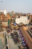 Miastowy krajobraz na słonecznym dniu Marzec 25, 2018 w Kathmandu, Nepa Zdjęcie Stock