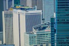 Miastowy krajobraz od Roppongi wzgórzy obserwacji pokładu fotografia stock