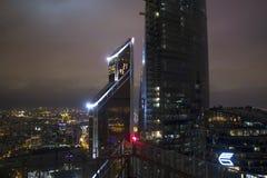 Miastowy krajobraz ogromne miasta i megacities, Moskwa Zdjęcia Stock