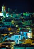 Miastowy krajobraz przy nocą zdjęcie royalty free