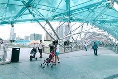 Miastowy krajobraz Singapur Obraz Royalty Free