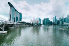 Miastowy krajobraz Singapur Zdjęcia Royalty Free