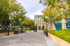 Miastowy krajobraz w w centrum Sunnyvale fotografia royalty free