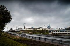 Miastowy krajobraz w gloomï ¿ ½ pogodzie Zdjęcie Stock
