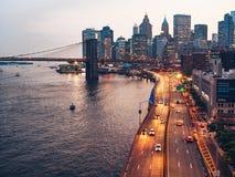 Miastowy krajobraz w Nowy Jork obrazy royalty free