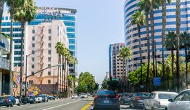 Miastowy krajobraz w San Jose, Kalifornia fotografia stock