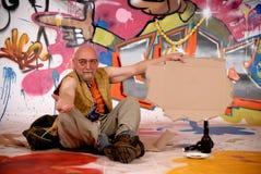 miastowy męski graffiti drałowanie Fotografia Stock