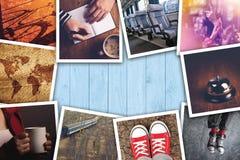 Miastowy młodość stylu życia fotografii kolaż Obrazy Royalty Free