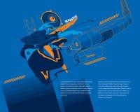 Miastowy Mechaniczny Breakdance ilustracja wektor