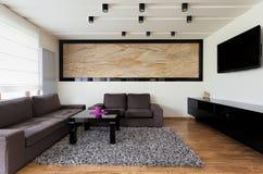 Miastowy mieszkanie - Przestronny żywy pokój zdjęcia royalty free