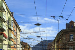 Miastowy niebo Fotografia Stock