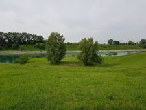miastowy park w Cernusco fotografia stock