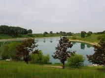 miastowy park w Cernusco zdjęcia royalty free