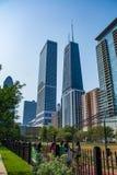 Miastowy park w Wietrznym mieście Chicago Obraz Royalty Free