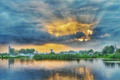 Miastowy słońce Obrazy Royalty Free