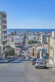 Miastowy sceny Comodoro Rivadavia miasto, Argentyna Zdjęcie Stock