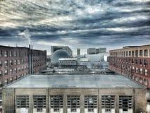 Miastowy - stare fabryki zdjęcie royalty free